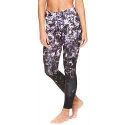 Gaiam Womens Arika Floral Print High Rise Leggings