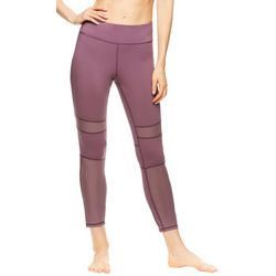 Gaiam Womens Willow Solid Mesh Panel Ankle Leggings