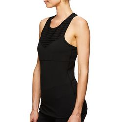 Gaiam Womens Solid Mesh Racerback Tank Top
