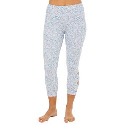 Gaiam Womens Josie Print Om Hi Flow Crop Leggings