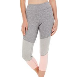 Gaiam Womens Delaney Heathered Colorblock High Rise Leggings