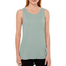 Gaiam Womens Suri Drape Back Solid Tank Top