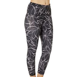 Gaiam Womens OM Bailey Print High Rise Capri Leggings