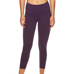 Gaiam Womens OM Sienna Mesh Pocket High Rise Capri Leggings