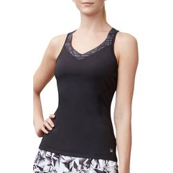 Fila Womens Micro Dot Print Trim Racerback Tank Top