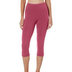 Spalding Womens High Rise Solid Capri Leggings