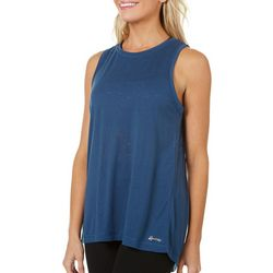 Spalding Womens Solid Burnout Flyaway Tank Top