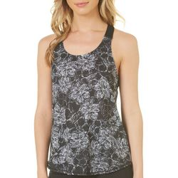 Spalding Womens Diamond Tropical Floral Tank Top