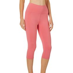 Spalding Womens High Waist Solid Crop Leggings