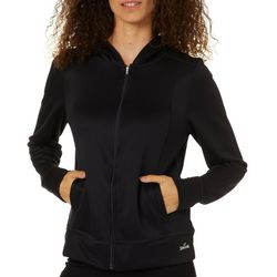 Spalding Womens Solid Basketball Warm Up Hooded Jacket