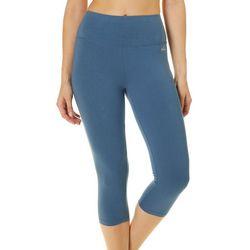 Spalding Womens High Rise Solid Capri Leggings