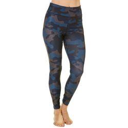 Spalding Womens Camo Print High Rise Leggings