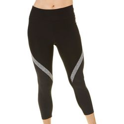 Spalding Womens Heathered Stripe Crop Leggings
