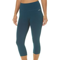 Spalding Womens Solid High Waist Capri Leggings