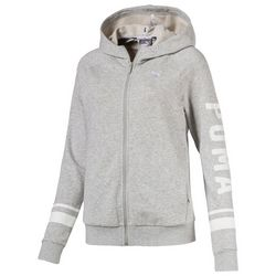 Puma Womens Heathered Athletic Hooded Jacket