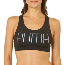 Puma Womens Power Shape Forever Metallic Logo Sports Bra