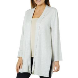 89th & Madison Womens Split Hem Longline Cardigan