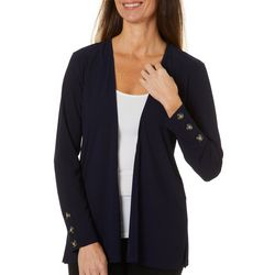89th & Madison Solid Button Embellished Cardigan