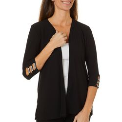 89th & Madison Solid Rhinestone Embellished Cardigan