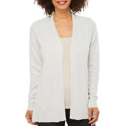 89th & Madison Womens Embellished Open Front Cardigan