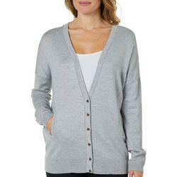 89th & Madison Womens Cozy Button Down Cardigan