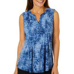 Sami & Jo Womens Embellished Snakeskin Print Sleeveless Top