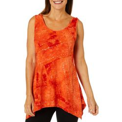 Sami & Jo Womens Embellished Feista Sleeveless Top
