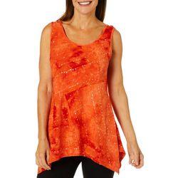 Sami & Jo Womens Embellished Feista Sleeveless Top