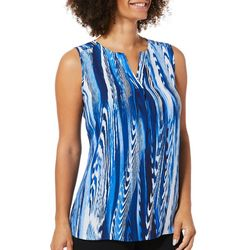 Sami & Jo Womens Striped Sleeveless Top