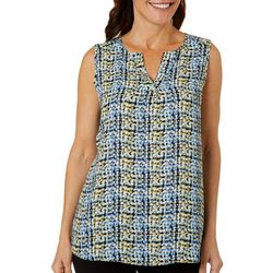 Sami & Jo Womens Graphic Dotted Print Sleeveless Top