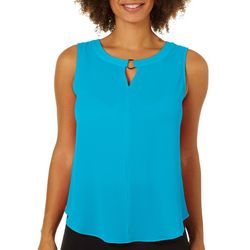 Sami & Jo Womens Ring Neck High-Low Sleeveless Top