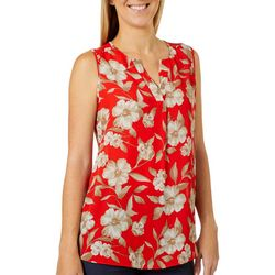 Sami & Jo Womens Floral Print Sleeveless Top