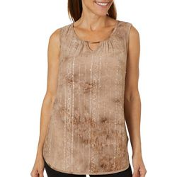 Sami & Jo Womens Embellished Fiesta Sleeveless Top