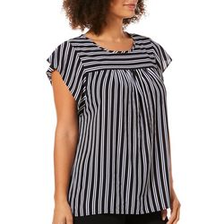 Tacera Womens Striped Cap Sleeve Top