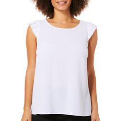 Tacera Womens Solid Cap Sleeve Top