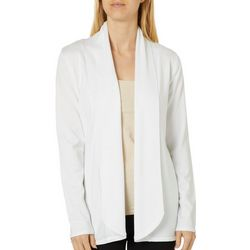 Premise Womens Solid Front Fly Cardigan