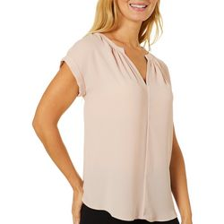 Philosophy Womens Solid Woven Top