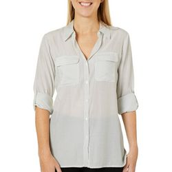 Philosophy Womens Dotted Roll Tab Top