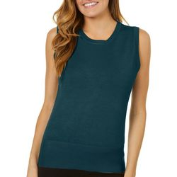 Premise Womens Solid Satin Shell Tank Top
