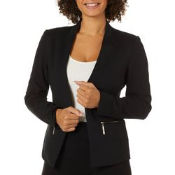 Premise Womens Open Front Solid Blazer