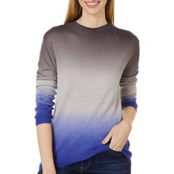 Beach Lunch Lounge Womens Ombre Round Neck Sweater
