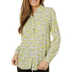 Beach Lunch Lounge Womens Cat Print Long Sleeve
