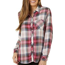 Beach Lunch Lounge Womens Charley Plaid Button Down