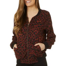 Beach Lunch Lounge Womens Leopard Print Long Sleeve Jacket