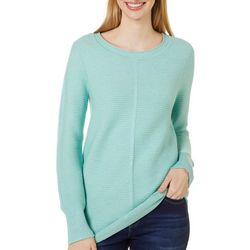 Cyrus Womens Solid Ribbed Pull Over Sweater