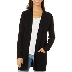 Cyrus Womens Open Front Solid Ribbed Cardigan