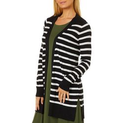 Cyrus Womens Cozy Striped Cardigan