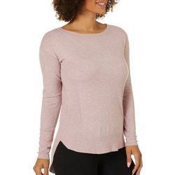 Cyrus Womens Solid Ribbed Pull Over Long Sleeve