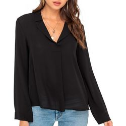 Lush Clothing Womens Long Sleeve Solid Top