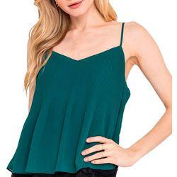 Lush Clothing Womens Lace Bottom Tank Top